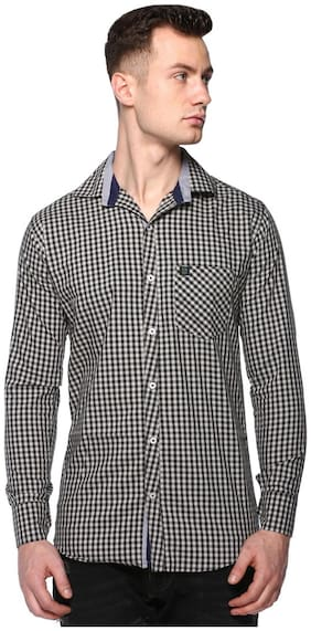CB COTBLEND Men Multi Checked Slim Fit Casual Shirt