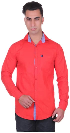 CB COTBLEND Men Regular Fit Casual shirt - Pink