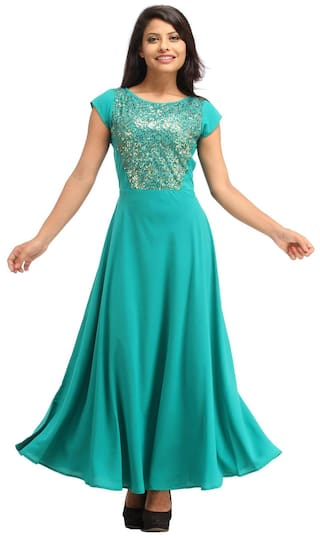 Buy Cottinfab Women s Sequin Maxi Dresses Online at Low Prices in ... f217944b0