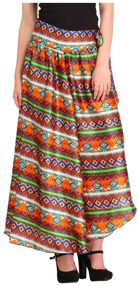 Cottinfab Women's Printed Skirt
