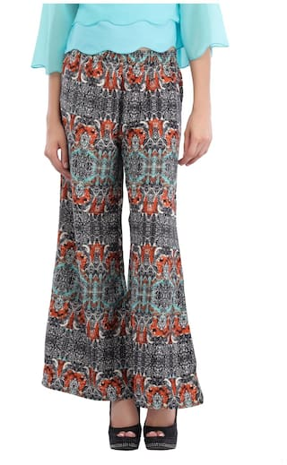 Cottinfab Women's Abstract Printed Palazzo