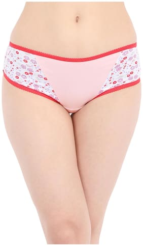 Cotton Floral Print Mid Waist Hipster Panty