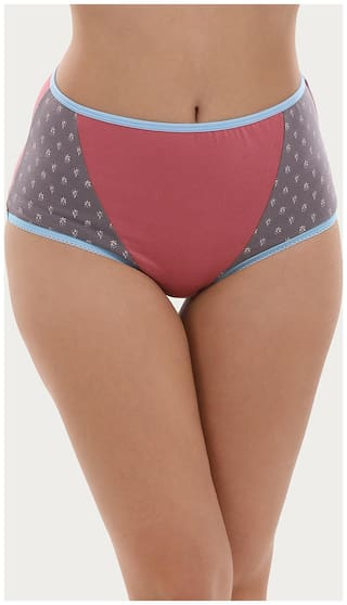 Clovia Pack Of 1 Solid Mid Waist Hipster Panty - Pink