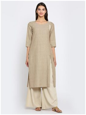 Abhishti Cotton Kurta With Side Slit Detail