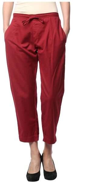 COTTON LINEN ANCLE LENGTH SMART FIT TROUSER