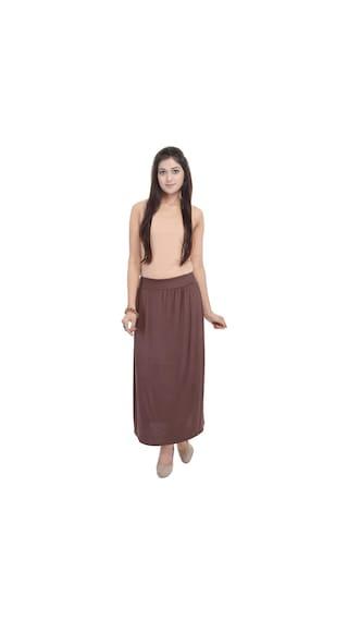 Skirt Solid Plain Cotton Lycra MnkCtdUH