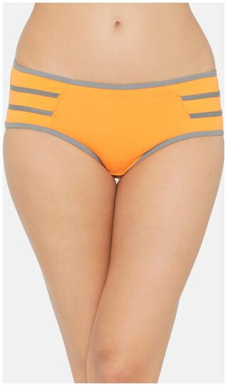 Cotton Mid Waist Hipster Panty with Contrast Trims