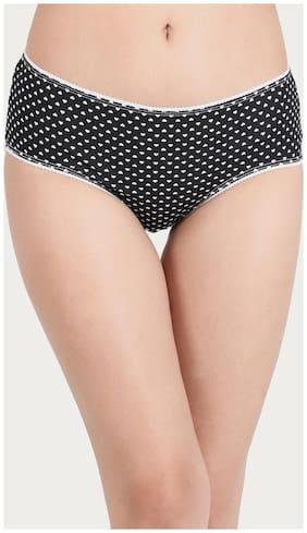 Cotton Mid Waist Heart Print Hipster Panty