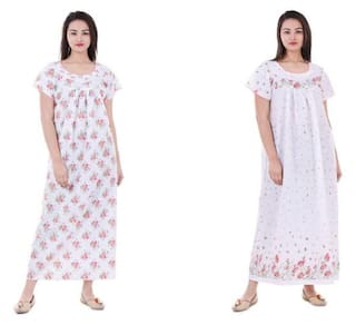 e030cc14f6 Buy Cotton Nightwear Gown Sleepwear Combo Pack Online at Low Prices ...