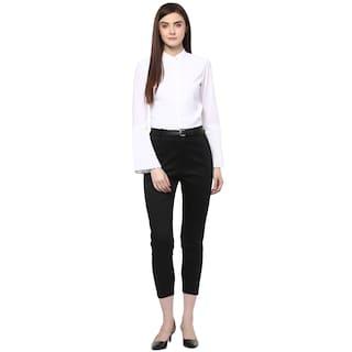{Black} Girl Cotton for Chinos Trouser Spandex Woman C6zqHx