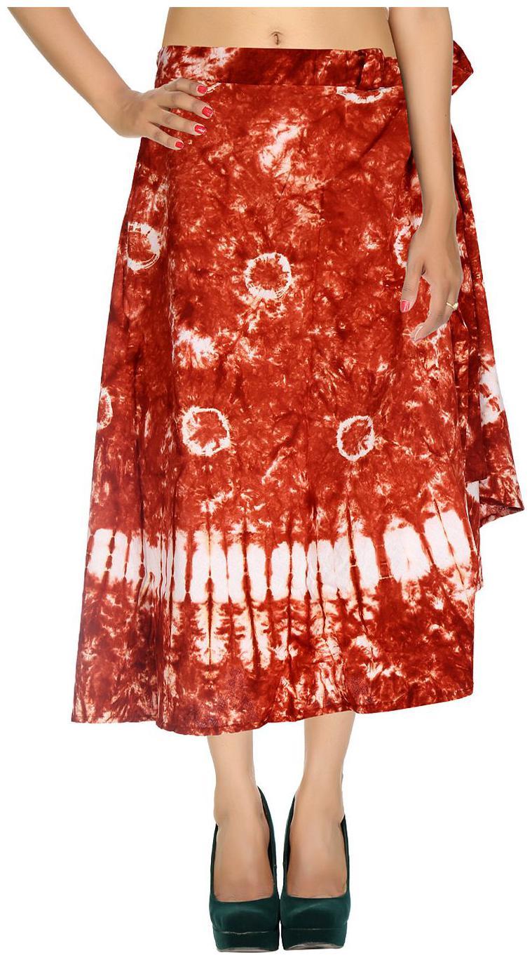 Rajrang Solid Wrap skirt Maxi Skirt   Maroon   White