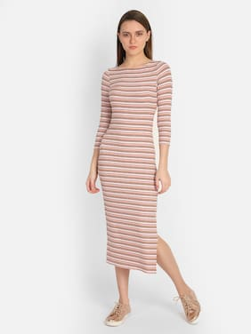 Cover Story Pink Striped Bodycon dress