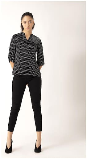 Cover Story Women Polka dots Regular top - Black