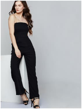 Cover Story Solid Jumpsuit - Black