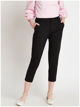 Cover Story Women Black Regular fit Regular pants