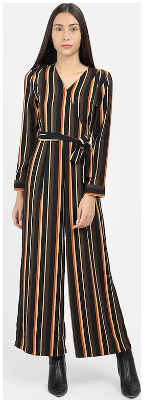 Cover Story Striped Jumpsuit - Multi