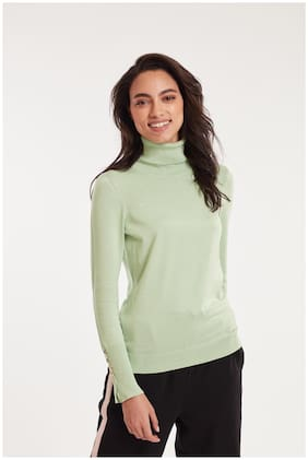Cover Story Women Solid Pullover - Green