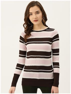 Cover Story Women Striped Sweater - Multi
