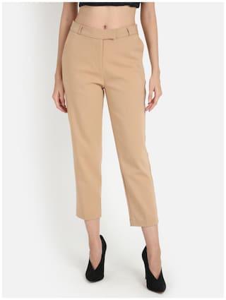 Cover Story Women Beige Regular fit Regular trousers