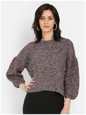Cover Story Women Solid Pullover - Wine