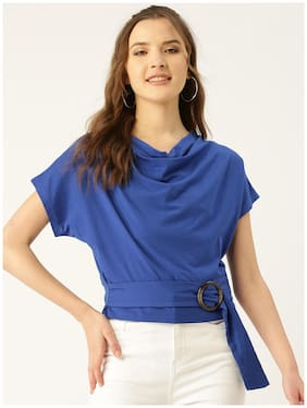 Cover Story Women Solid Regular top - Blue