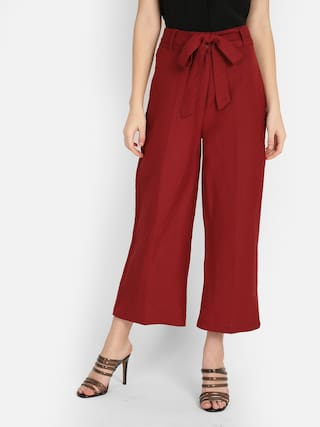 Cover Story Women Maroon Regular fit Cullotes