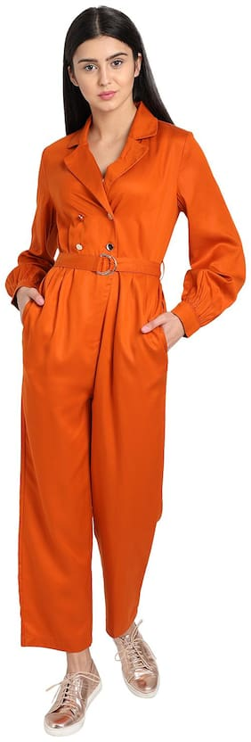 Cover Story Solid Jumpsuit - Orange