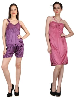 Buy Crazeis Women s Nightwear Combo Online at Low Prices in India ... 1975247b6