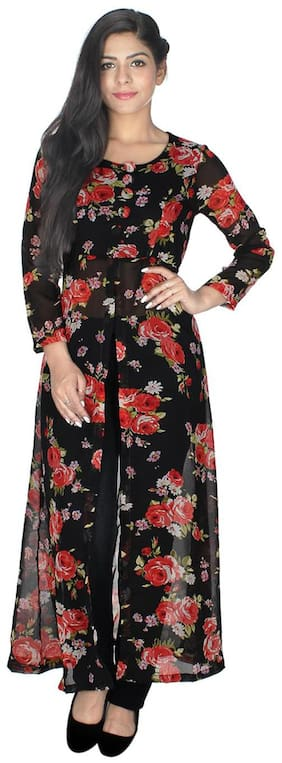 Sukuma Women Multi Floral Straight Kurta
