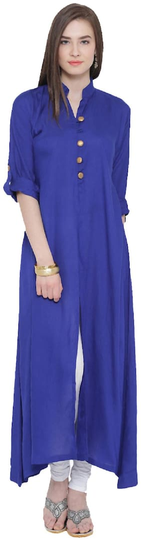 Crepe BLUE Party Casual Wear Kurti