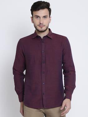 Crimsoune Club Men Slim Fit Casual shirt - Maroon