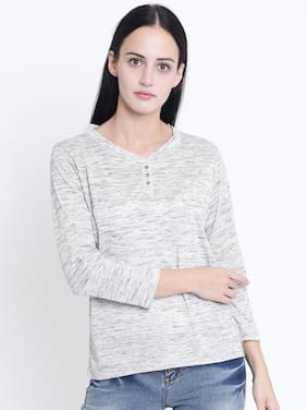 Crimsoune Club Solid Grey T Shirt