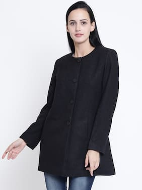 Crimsoune Club Women Solid Slim Fit Blazer - Black