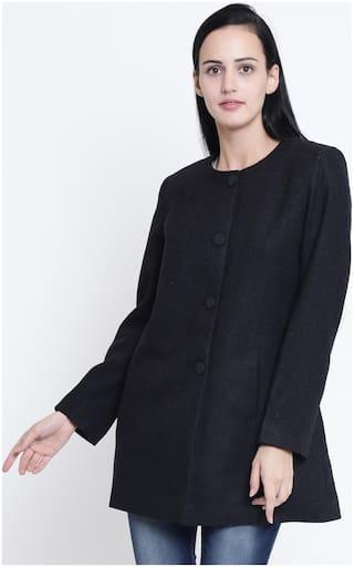 Crimsoune Club Women Solid Slim Fit Blazer - Black