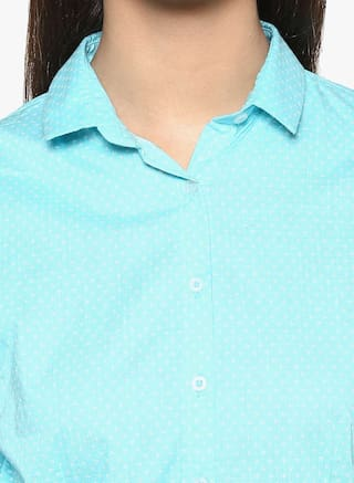 Shirt Casual Crimsoune Club Green Printed YwqyIT0
