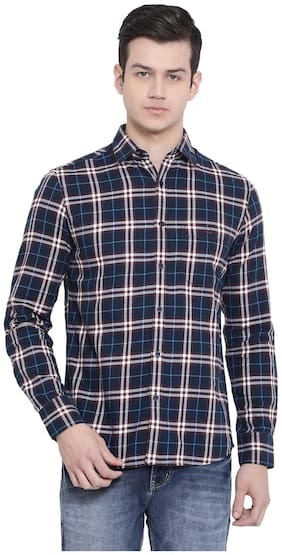 Men Slim Fit Checked Casual Shirt