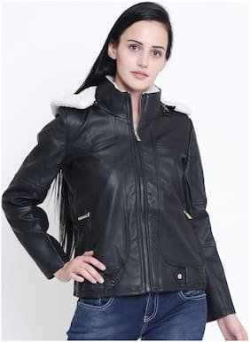 Crimsoune Club Women Solid Regular jacket - Black
