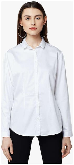 Crimsoune Club White Solid Casual Shirt