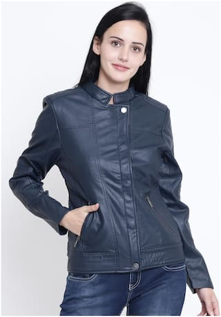 Crimsoune Club Women Solid Regular Jacket - Blue