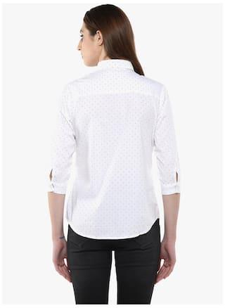 Crimsoune White Club Shirt Printed Casual TT7OxB4w