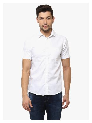 Crimsoune Club Men Slim Fit Casual shirt - White