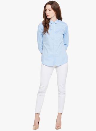 Crimsoune Shirt Printed Casual Blue Club gCwIqnrxYg