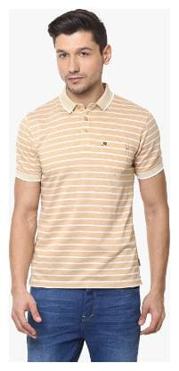 Men Polo Neck Striped T-Shirt