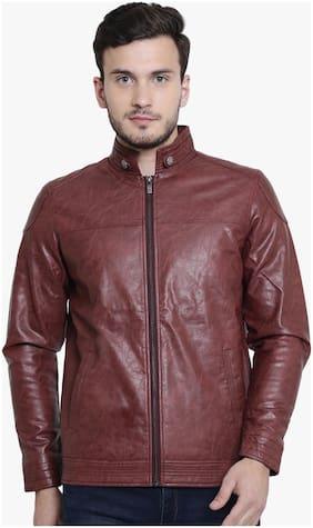 Men PU Full Sleeves Jacket