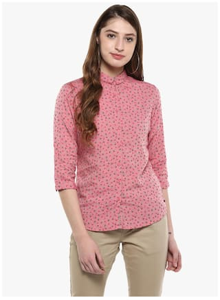 Pink Printed Crimsoune Casual Club Shirt z5aRqwPS
