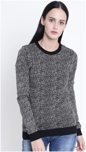Crimsoune Club Women Printed Sweaters & Pullovers - Black