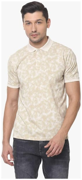 Men Mandarin Collar Printed T-Shirt