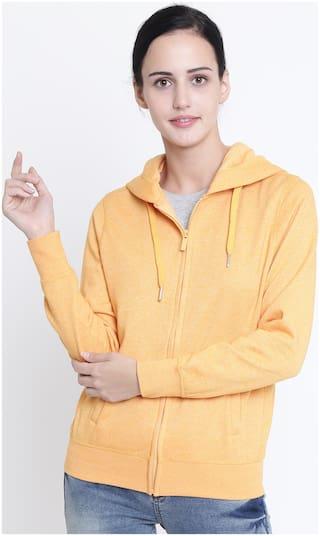 Crimsoune Club Women Solid Sweatshirt - Orange