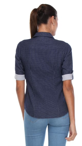 Navy Printed Shirt Crimsoune Club Blue 4Pqzzg