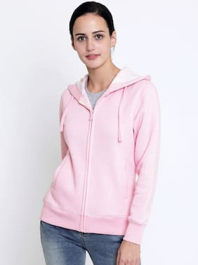 Crimsoune Club Women Solid Sweatshirt - Pink